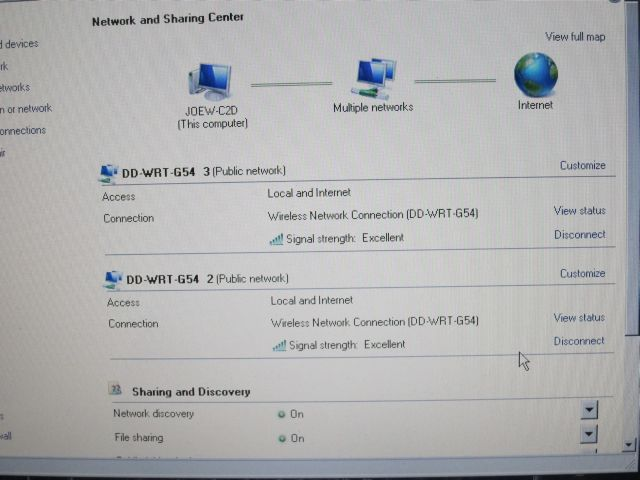 duplicate network connections